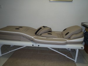 Massage bed met voeten massage